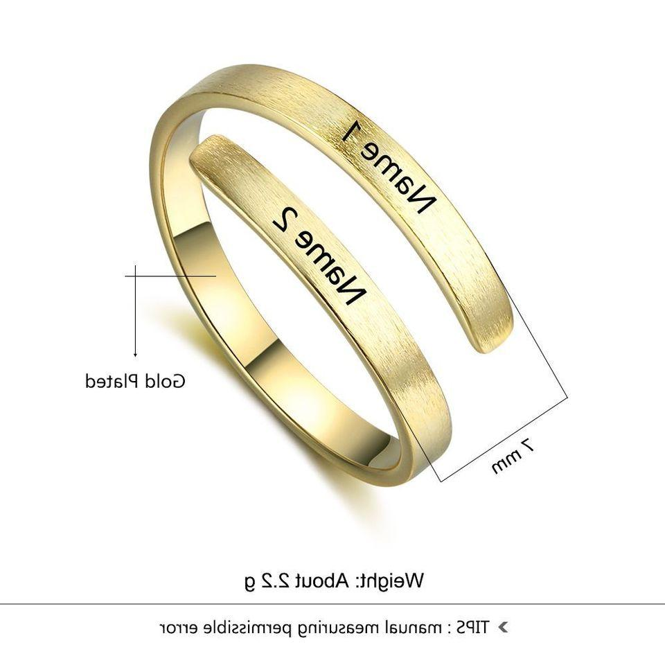Personalized Engraving Couple Ring Custom Gift