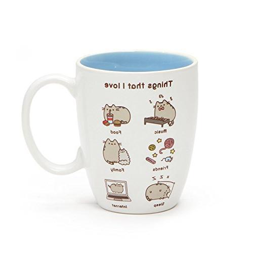 "Pusheen the Cat ""Things Pusheen Loves"" 12oz Stoneware Coffee"