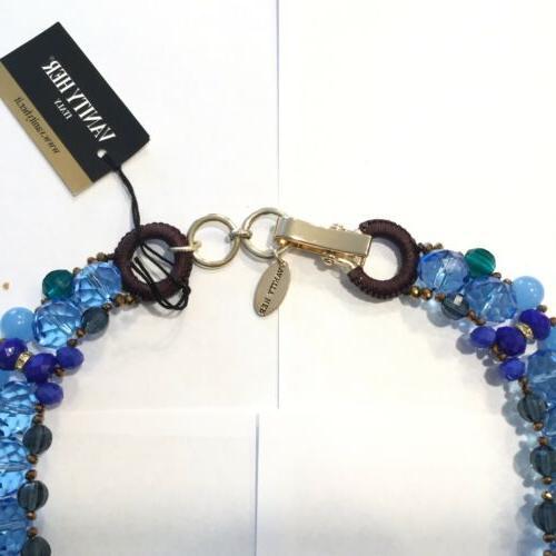 Rare Vanity Bruma Womens Stones Statement Blue