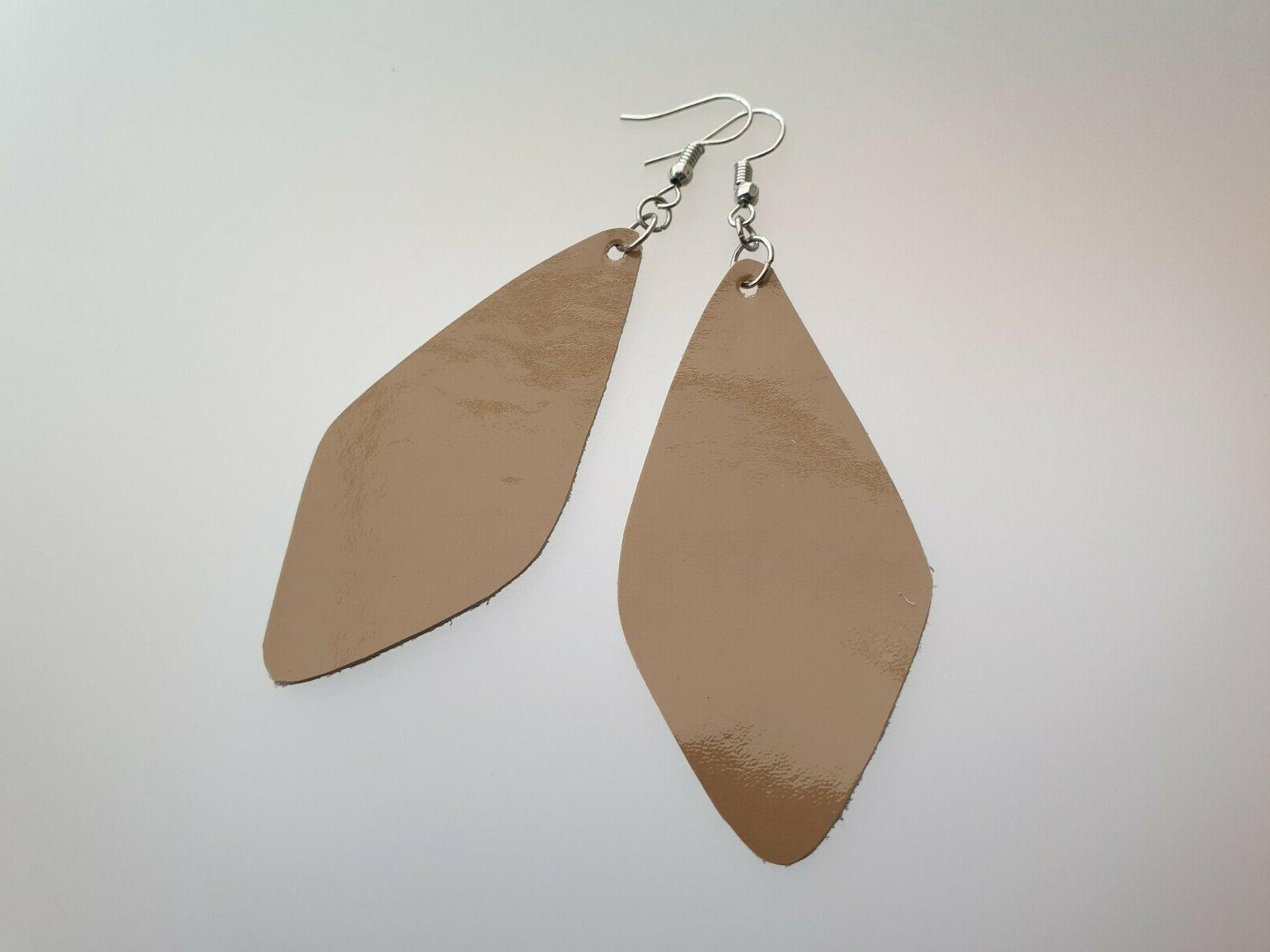Handmade Leather Dangle Drop Jewelry Gift Her