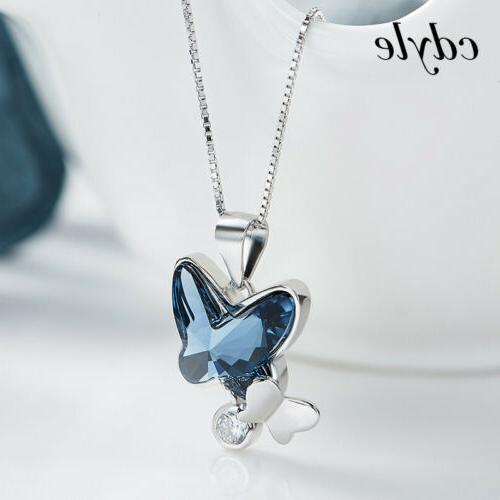 S925 Silver Crystal Xmas Gifts Women