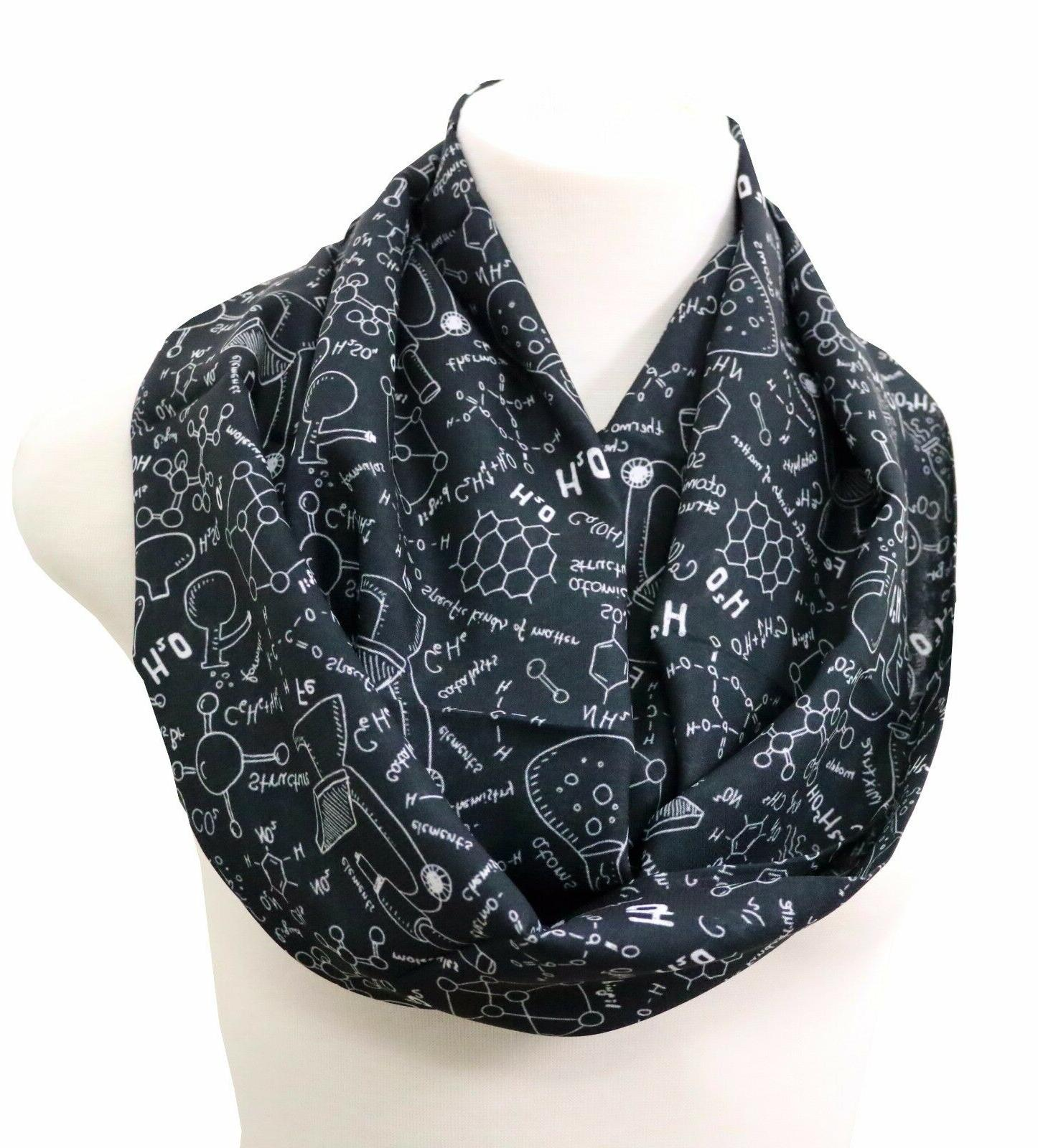 Science infinity scarf chemistry teacher Christmas gift for