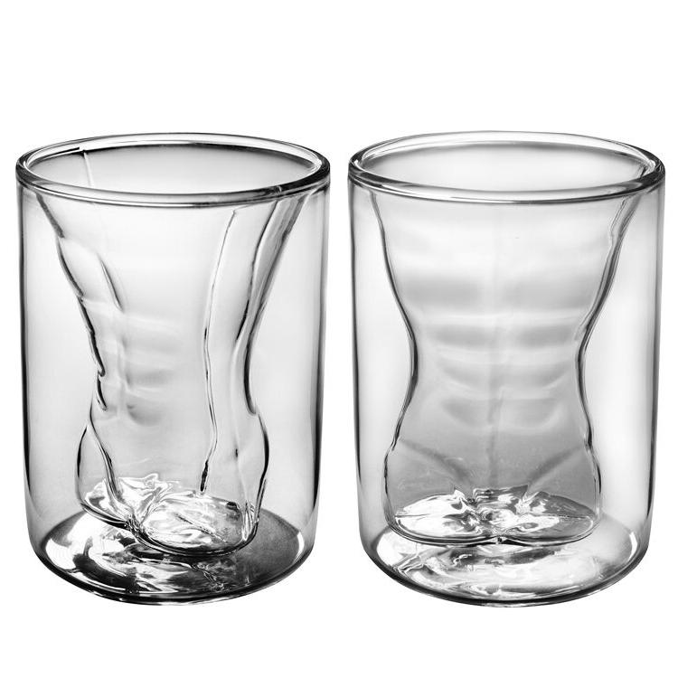 shot glass set crystal