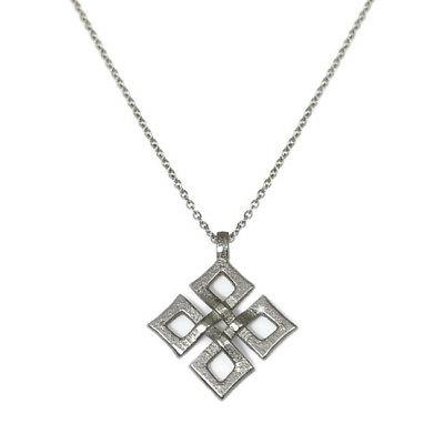 Stainless Steel Silver Celtic Knot Pendant Necklace Womens U