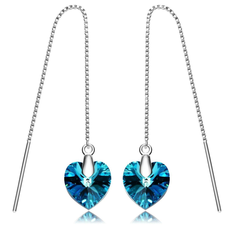 sterling silver dangle earrings long drop earring