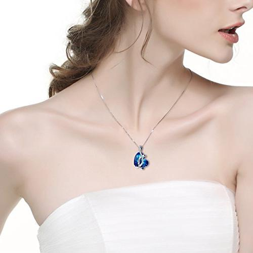 AOBOCO Jewelry You Sterling Pendant Girls with Swarovski for Daughter Mother Sister