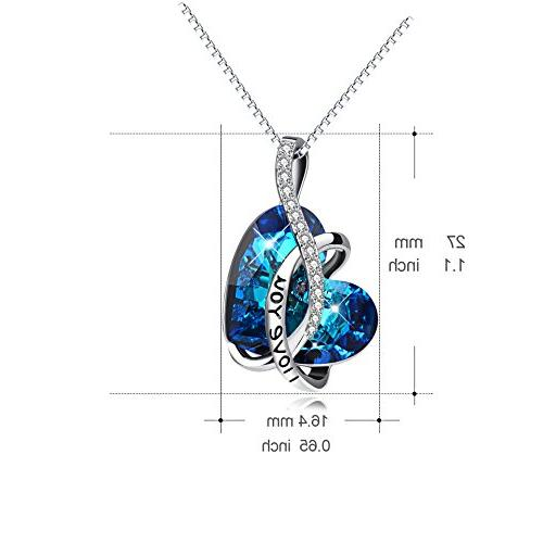AOBOCO You Pendant Necklace with Crystals Swarovski Birthday for Wife Daughter Mother