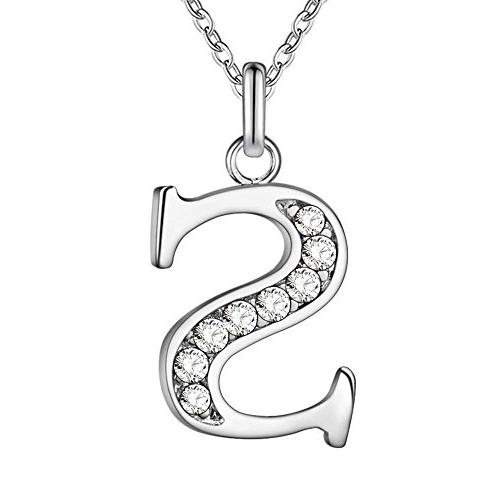 sterling silver plated simple 26 letters alphabet