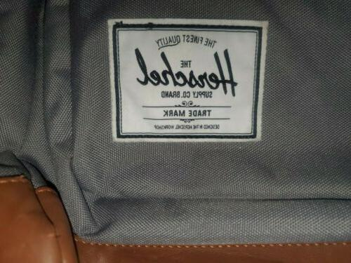 Herschel Supply Pop Quiz Grey Leather Backpack
