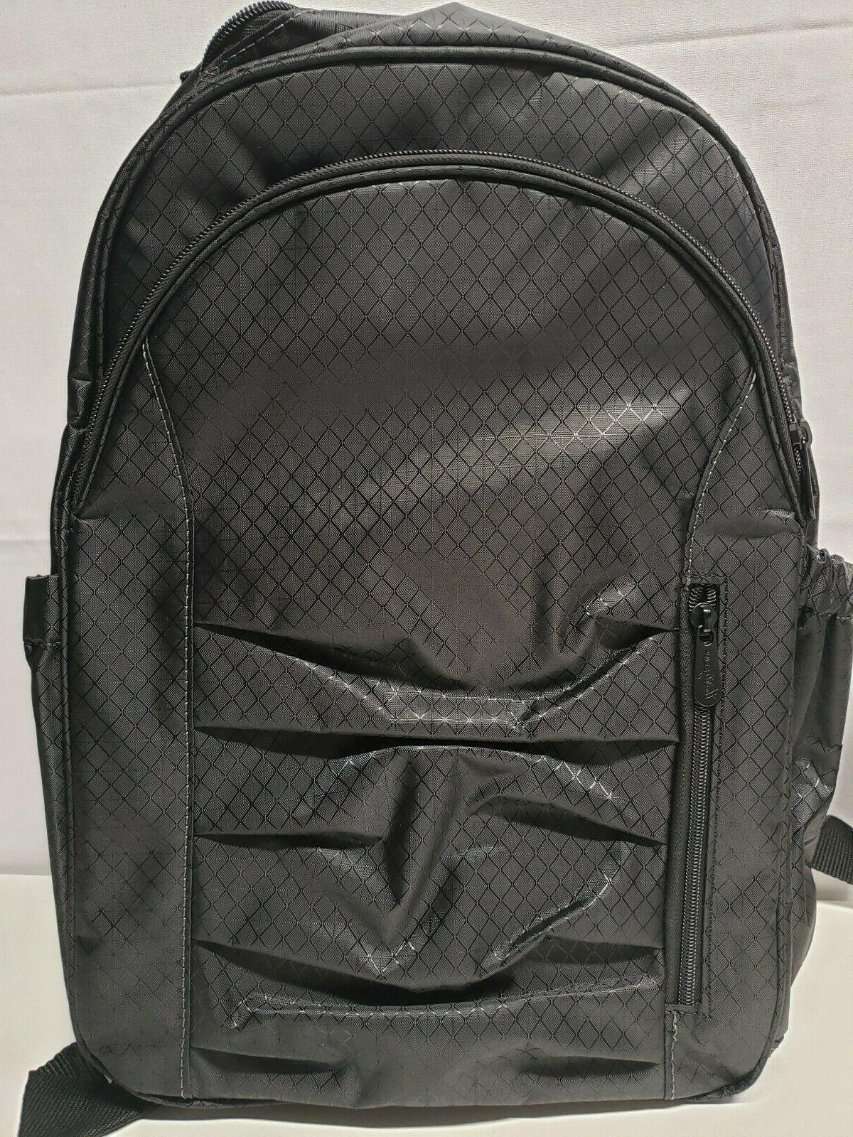 Thirty Black Her Deluxe Backpack W/ Mini Crossbody