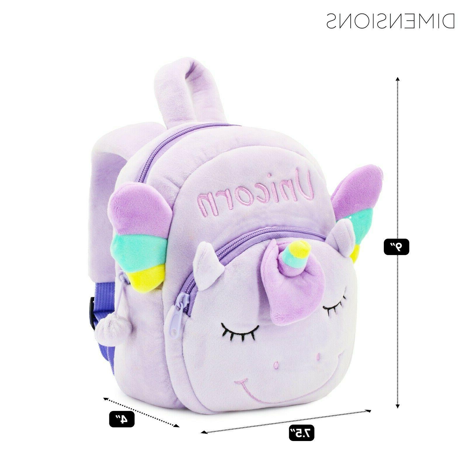 UNICORN MINI BACKPACK for Toddlers - plush for treasures