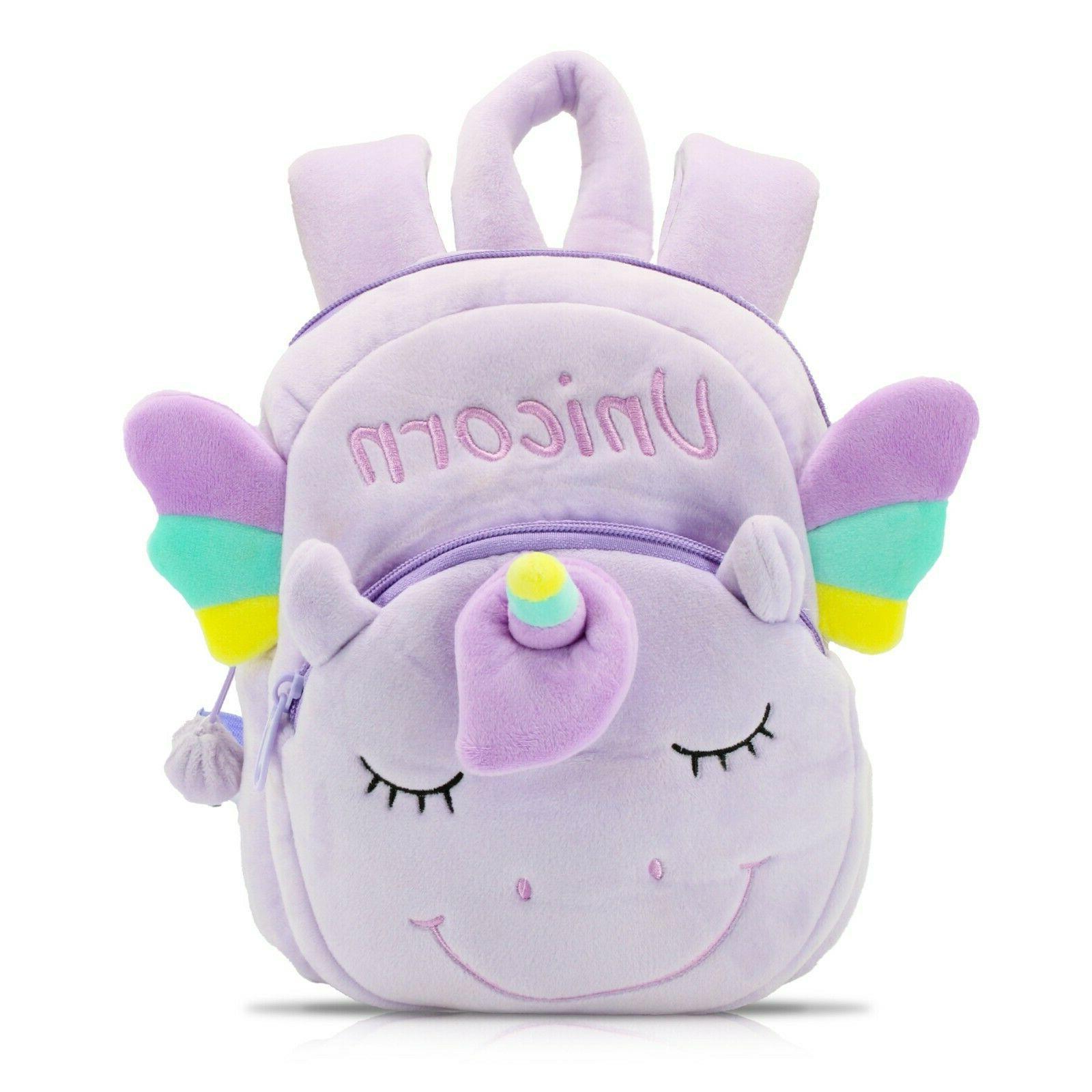 unicorn mini backpack for toddlers soft purple