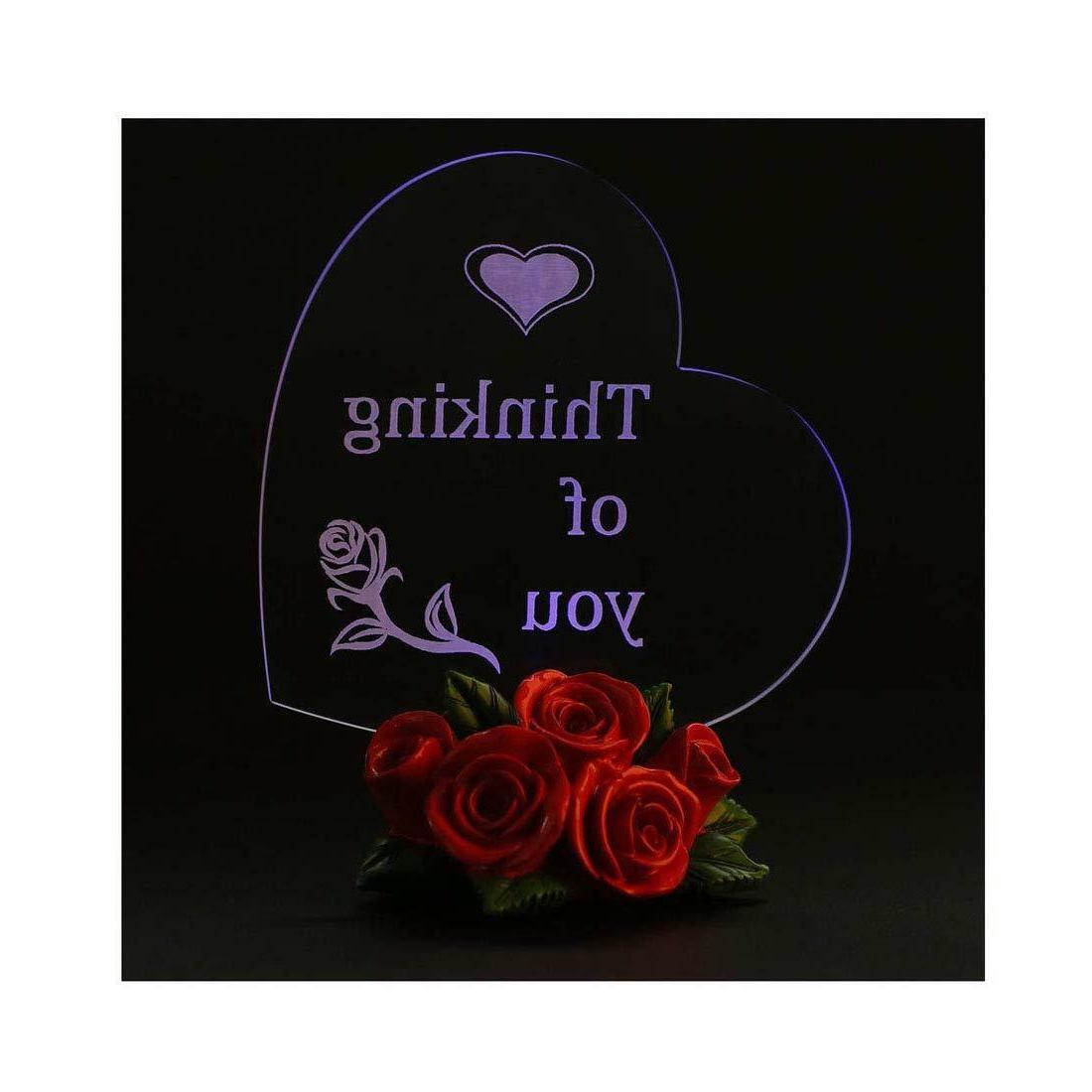 BIRTHDAY GIFT LED Heart Rose Love Women Girl Wife