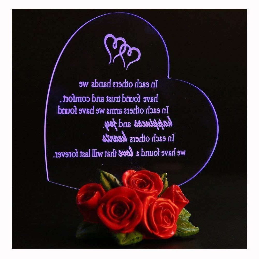 BIRTHDAY FOR LED Light Rose Base Love Girl Wife
