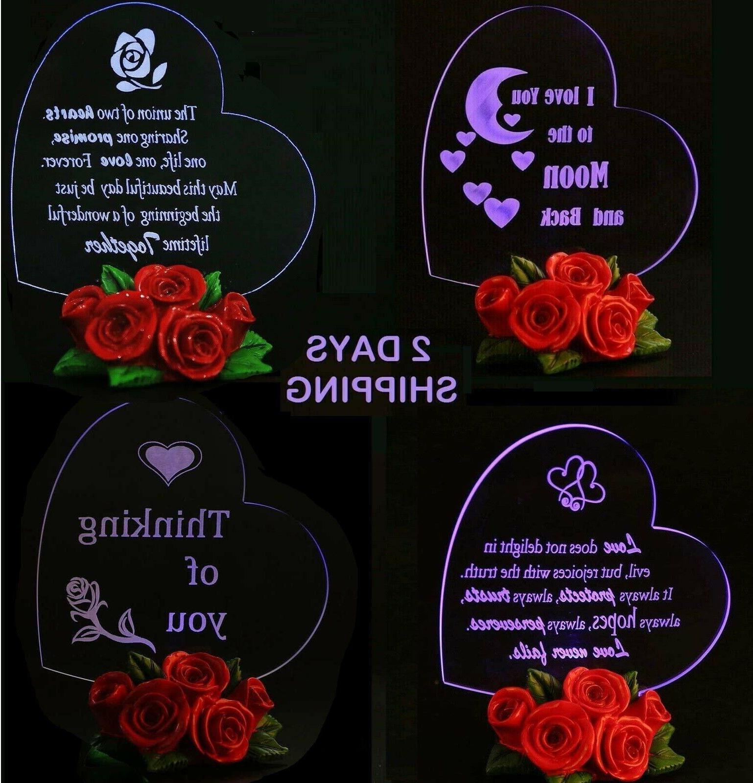 valentines day gift for her led light
