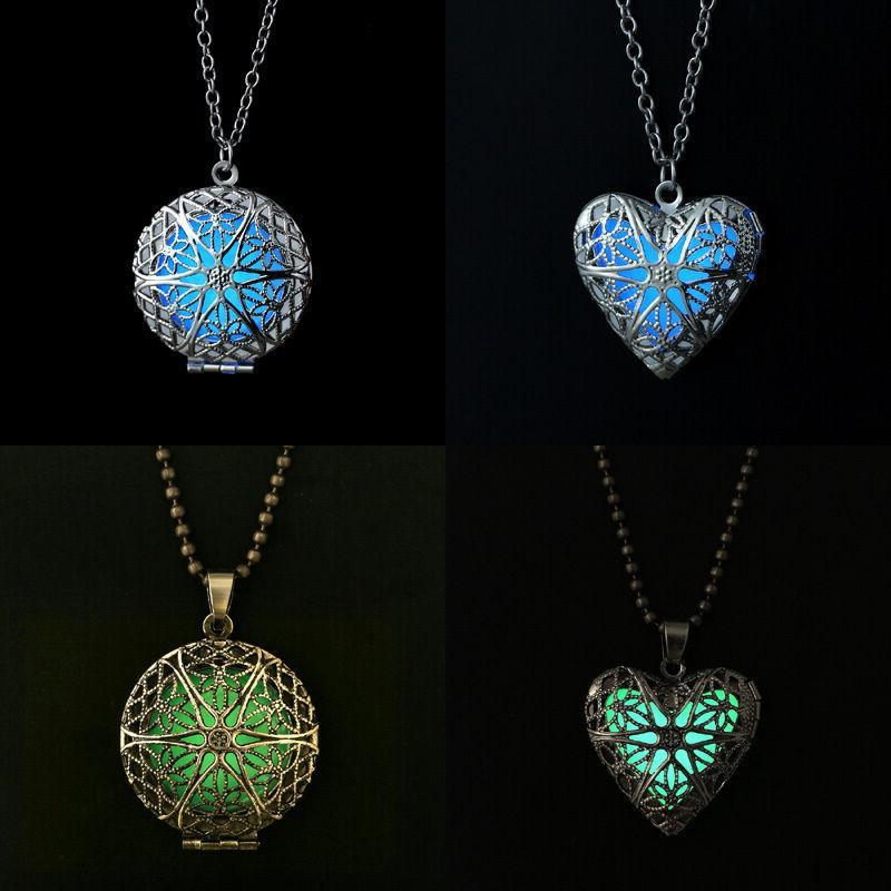 Valentine's Day Heart of Sea Steampunk Glow Locket Jewelry