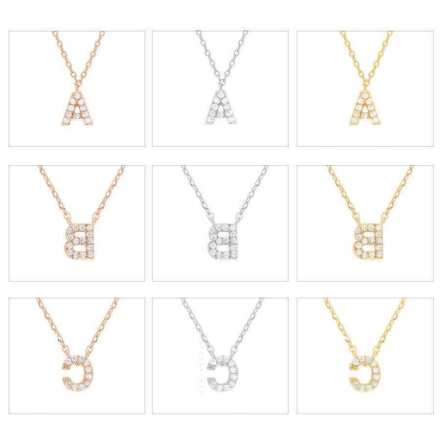 Women's Brass Zirconia Necklace Gift Her