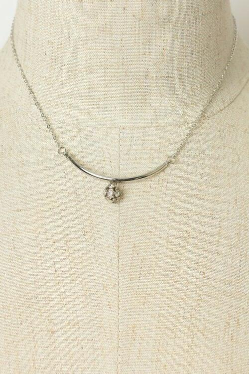 Women's Round Stone Chain Necklace Her