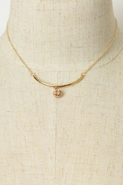Women's Round Stone Chain Pendant Necklace Gifts for
