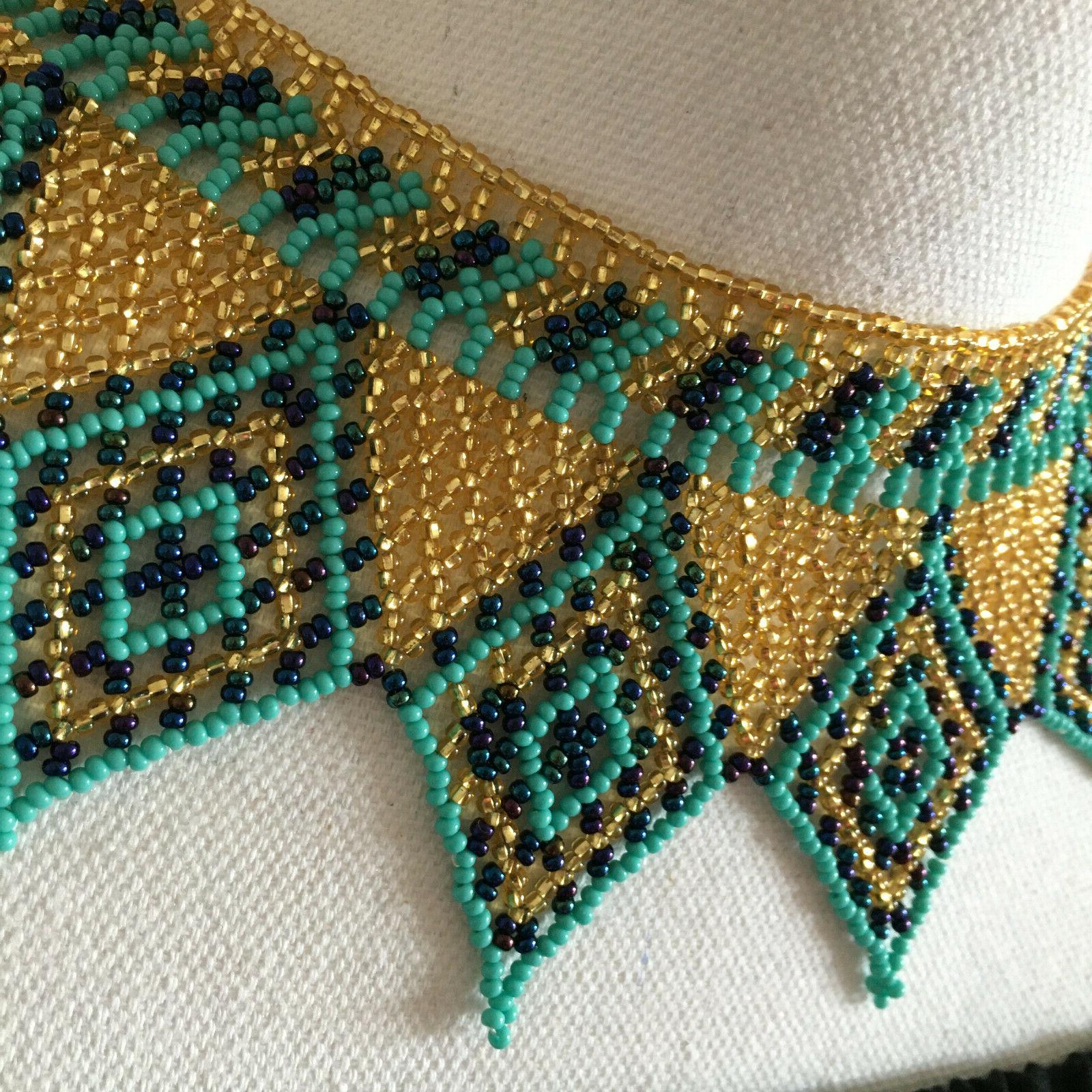 Women's Handmade Huichol Bead Necklace Jewelry - Her