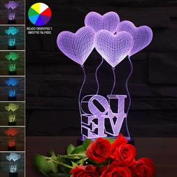 LED Light Gift For Her Girlfriend Wife Woman Mom Love Hearts