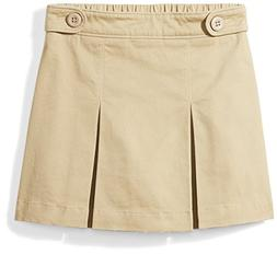 Amazon Essentials Little Girls' Uniform Skort, Khaki, XS