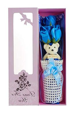 Adabele Gifts I Love You Blue Flower Bouquet Scented Soap Ro