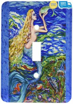 "3dRose LSP_54922_1""This is My Tropical Mermaid Caring for He"