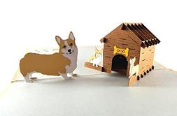 iGifts and Cards Mama Corgis N Puppies 3D Pop up Greeting Ca