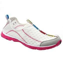 ALEADER Women's Mesh Slip On Water Shoes White 9 D M US Men