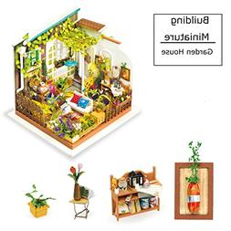 Miniature Building - DIY Garden House with Furniture and Acc