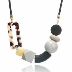 minimalist necklace womens stylish jewelry leopard charm