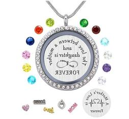 MOTHER'S DAY GIFT FOR HER Lockets with Birthstone Stainless