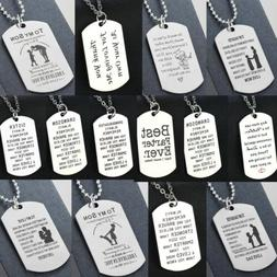 Mothers Day Gifts For Her Mom Pendant Chain Dog Tag Necklace