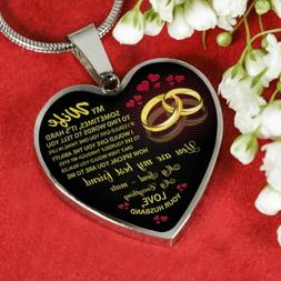 My Wife Heart Pendant Necklace - From Husband - Anniversary/