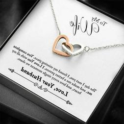For My Wife Necklace Engagement Anniversary Gift for Her Bir