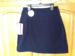 Teez Her Navy Pull On Slimming The Skinny Shaping Skort Size