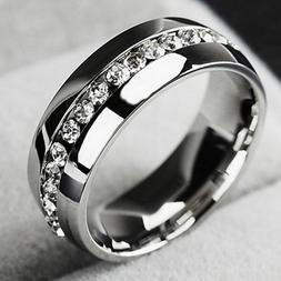 New Ring For Her Engagement Wedding Ring Band Stainless Stee