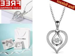 New Sterling Silver Necklace I Love You Heart Mothers Day Gi