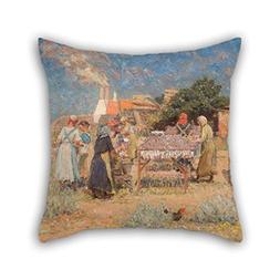 Oil Painting Laurits Tuxen - Sun Drying Herrings Throw Cushi