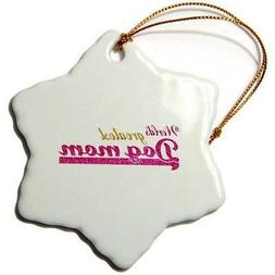 3dRose orn_151298_1 Worlds Greatest Dog Mom Best Pet Owner G