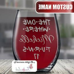 Personalized 17th Birthday Glass for Teens, 17 Years Bday Gi