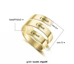 Personalized Engrave Name Promise Ring Stainless Steel Rings