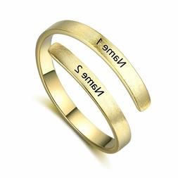 personalized engraving couple name ring custom rings