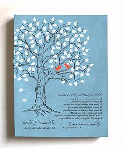 MuralMax Personalized Family Tree & Lovebirds, Stretched Can