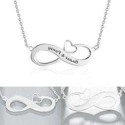 Personalized Infinity Love Couple names Necklace For Her Ann