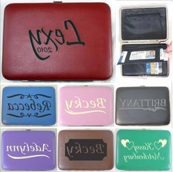 Personalized Leather Clutch Purses Custom Engraved Valentine