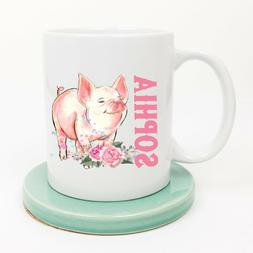 Personalized Pig Coffee Mug For Her