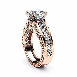 Litetao Princess Ring, 2018 New Fashion Crown Lady Crystal R