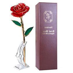 Gold Dipped Rose, Sinvitron Long Stem 24k Gold Dipped Real R